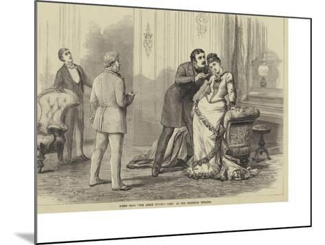 Scene from The Great Divorce Case, at the Criterion Theatre-David Henry Friston-Mounted Giclee Print