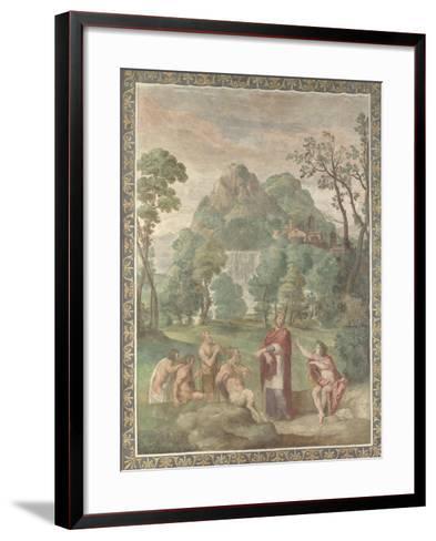 The Judgement of Midas, 1616-18-Domenichino-Framed Art Print