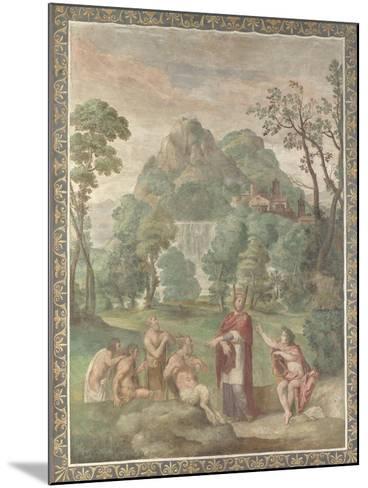 The Judgement of Midas, 1616-18-Domenichino-Mounted Giclee Print
