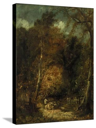 Wooded Landscape-David Cox-Stretched Canvas Print