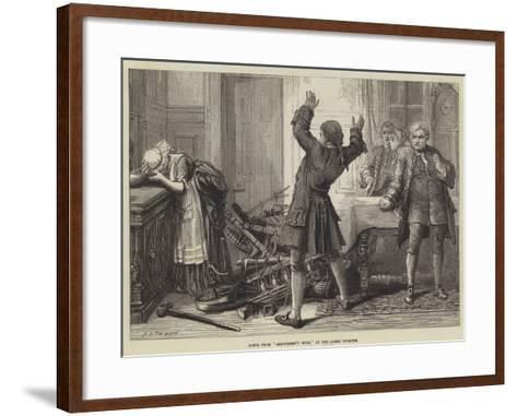 Scene from Arkwright's Wife, at the Globe Theatre-David Henry Friston-Framed Art Print