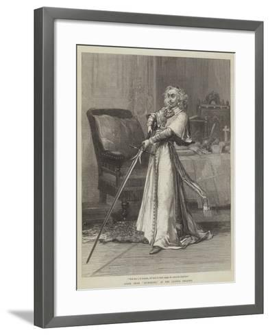 Scene from Richelieu, at the Lyceum Theatre-David Henry Friston-Framed Art Print