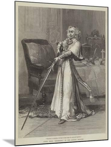 Scene from Richelieu, at the Lyceum Theatre-David Henry Friston-Mounted Giclee Print