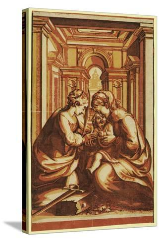 The Marriage of St. Catherine-Correggio-Stretched Canvas Print