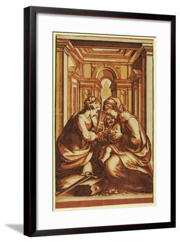 The Marriage of St. Catherine-Correggio-Framed Art Print
