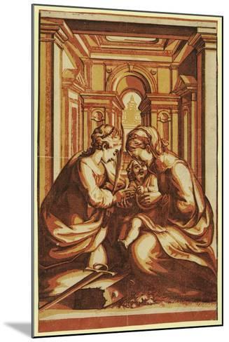 The Marriage of St. Catherine-Correggio-Mounted Giclee Print