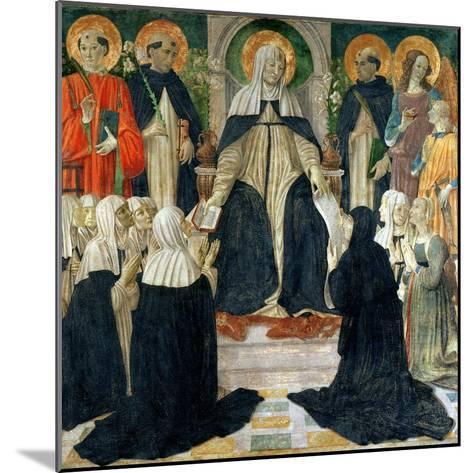 St. Catherine of Siena as the Spiritual Mother of the 2nd and 3rd Orders of St. Dominic-Cosimo Rosselli-Mounted Giclee Print