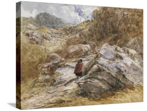 Mountain Pass at Bettws-Y-Coed, 1851-David Cox-Stretched Canvas Print