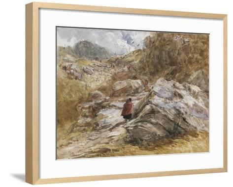 Mountain Pass at Bettws-Y-Coed, 1851-David Cox-Framed Art Print