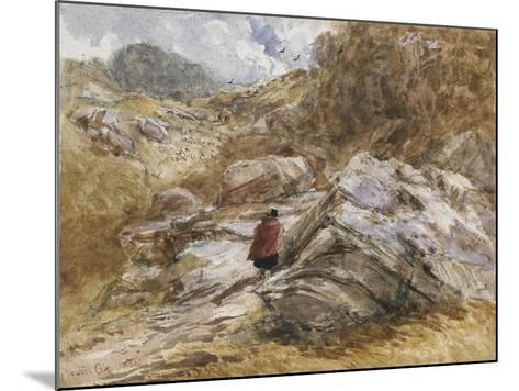 Mountain Pass at Bettws-Y-Coed, 1851-David Cox-Mounted Giclee Print