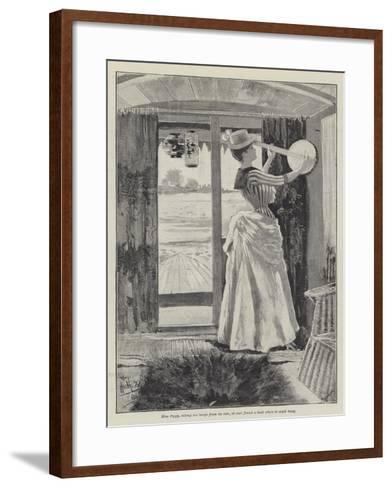 The Strange Adventures of a House-Boat-David Hardy-Framed Art Print