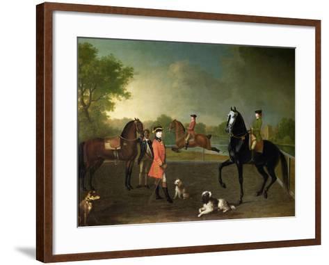Henry, 10th Earl of Pembroke, and His Son George Augustus, Lord Herbert (1759-1827)-David Morier-Framed Art Print