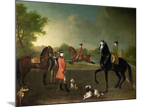 Henry, 10th Earl of Pembroke, and His Son George Augustus, Lord Herbert (1759-1827)-David Morier-Mounted Giclee Print