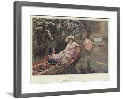 Danger-Delapoer Downing-Framed Art Print