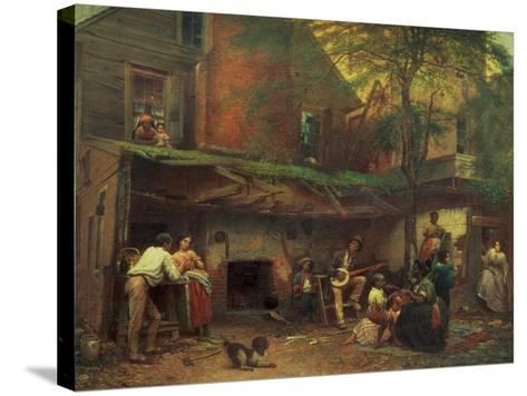 Old Kentucky Home Life in the South, 1859-Eastman Johnson-Stretched Canvas Print