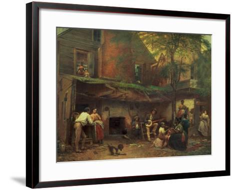 Old Kentucky Home Life in the South, 1859-Eastman Johnson-Framed Art Print