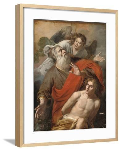 The Sacrifice of Isaac-Constantin Verhout or Voorhout-Framed Art Print