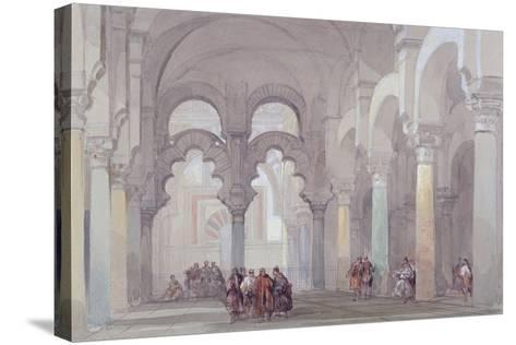 The Mosque at Cordova, 1833-David Roberts-Stretched Canvas Print