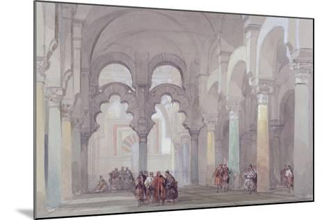 The Mosque at Cordova, 1833-David Roberts-Mounted Giclee Print