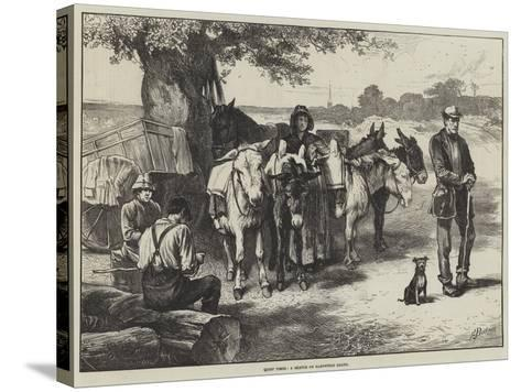 Quiet Times, a Sketch on Hampstead Heath-Edwin Buckman-Stretched Canvas Print