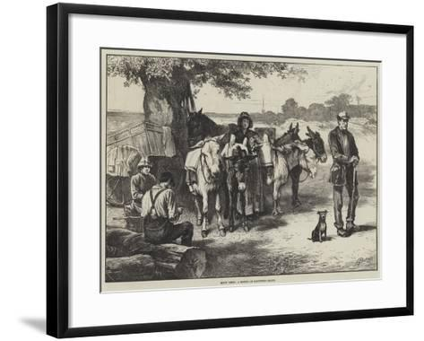 Quiet Times, a Sketch on Hampstead Heath-Edwin Buckman-Framed Art Print