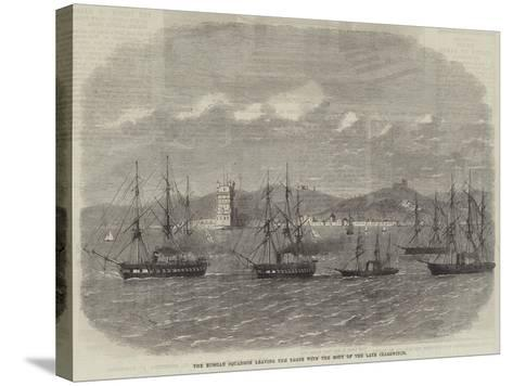 The Russian Squadron Leaving the Tagus with the Body of the Late Czarewitch-Edwin Weedon-Stretched Canvas Print