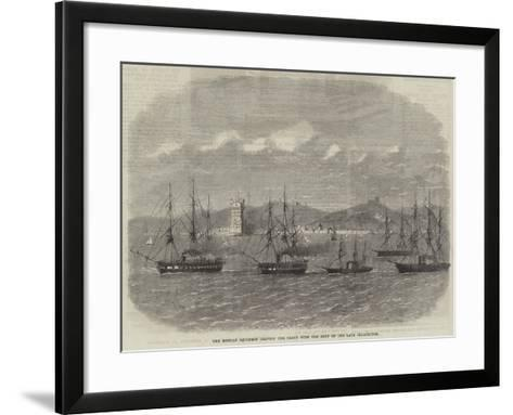 The Russian Squadron Leaving the Tagus with the Body of the Late Czarewitch-Edwin Weedon-Framed Art Print