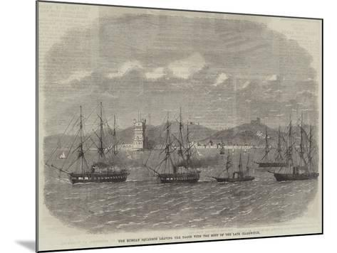 The Russian Squadron Leaving the Tagus with the Body of the Late Czarewitch-Edwin Weedon-Mounted Giclee Print