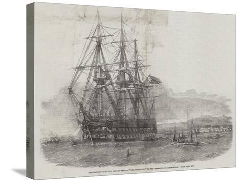 Emigration from the Isle of Skye, The Hercules in the Harbour of Campbelton-Edwin Weedon-Stretched Canvas Print