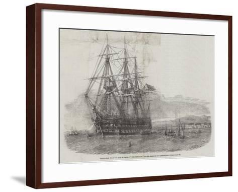 Emigration from the Isle of Skye, The Hercules in the Harbour of Campbelton-Edwin Weedon-Framed Art Print