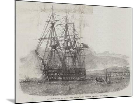 Emigration from the Isle of Skye, The Hercules in the Harbour of Campbelton-Edwin Weedon-Mounted Giclee Print