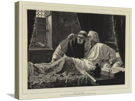 The Secret-Edmund Blair Leighton-Stretched Canvas Print