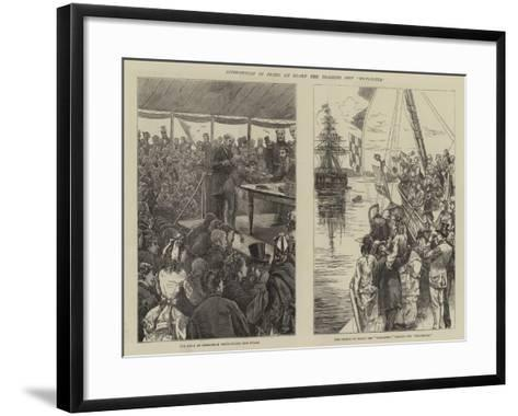 Distribution of Prizes on Board the Training Ship Worcester-Edward Frederick Brewtnall-Framed Art Print