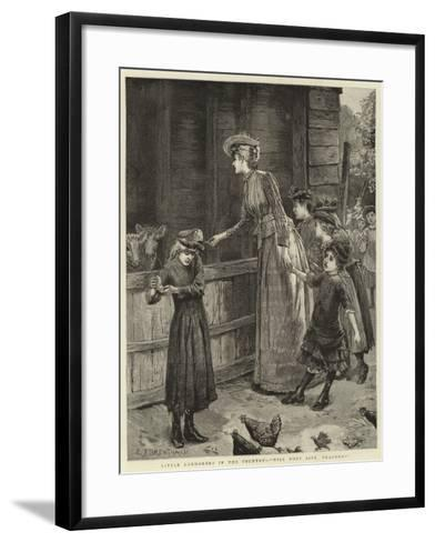 Little Londoners in the Country, Will They Bite, Teacher?-Edward Frederick Brewtnall-Framed Art Print