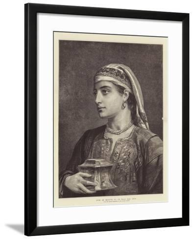 Type of Beauty, IV-Edwin Long-Framed Art Print