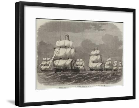 Cruise of the Naval Reserve, the Squadron Making for the Rendezvous Off Scilly-Edwin Weedon-Framed Art Print
