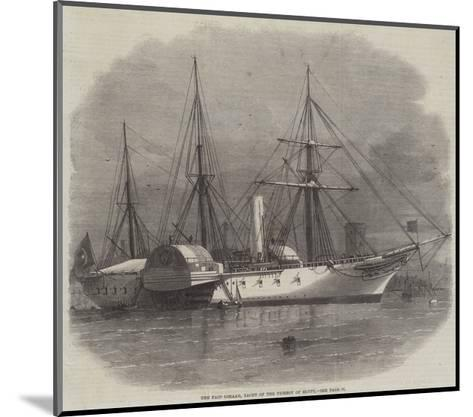 The Faid Gihaad, Yacht of the Viceroy of Egypt-Edwin Weedon-Mounted Giclee Print