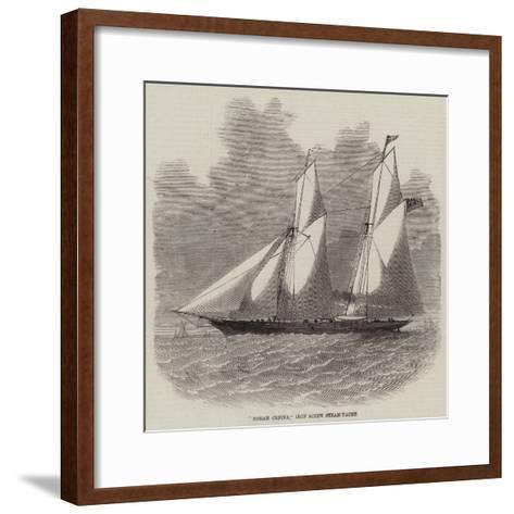Norah Creina, Iron Screw Steam-Yacht-Edwin Weedon-Framed Art Print