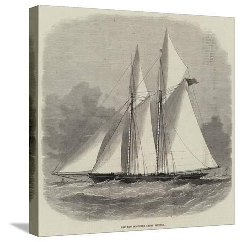 The New Schooner Yacht Livonia-Edwin Weedon-Stretched Canvas Print