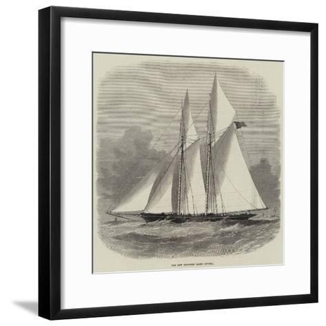 The New Schooner Yacht Livonia-Edwin Weedon-Framed Art Print