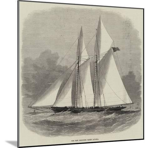 The New Schooner Yacht Livonia-Edwin Weedon-Mounted Giclee Print