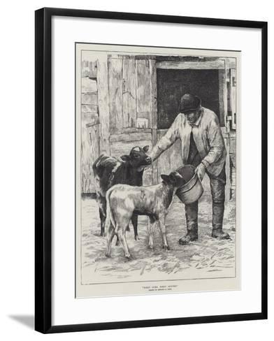 First Come, First Served-Edward R. King-Framed Art Print