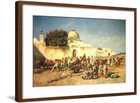 Market Scene at Mogador, 1881-Edwin Lord Weeks-Framed Art Print