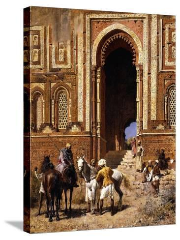 The Gateway of Alah-Ou-Din, Old Delhi, Late 19th Century-Edwin Lord Weeks-Stretched Canvas Print