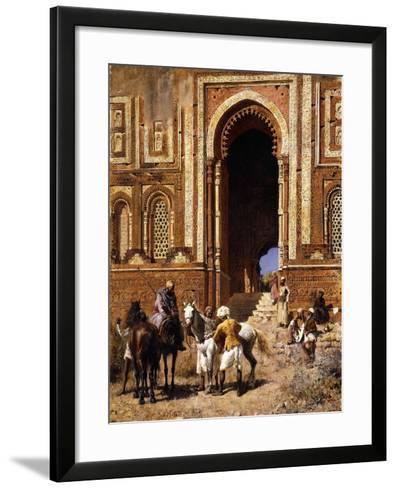 The Gateway of Alah-Ou-Din, Old Delhi, Late 19th Century-Edwin Lord Weeks-Framed Art Print