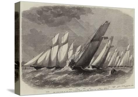 The Ocean Race of the Royal Victoria Yacht Club, the Vessels Off the Noman-Edwin Weedon-Stretched Canvas Print