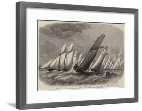 The Ocean Race of the Royal Victoria Yacht Club, the Vessels Off the Noman-Edwin Weedon-Framed Art Print