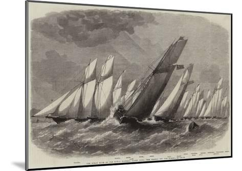 The Ocean Race of the Royal Victoria Yacht Club, the Vessels Off the Noman-Edwin Weedon-Mounted Giclee Print