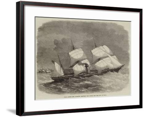Race across the Atlantic Between the Russia and the City of Paris-Edwin Weedon-Framed Art Print