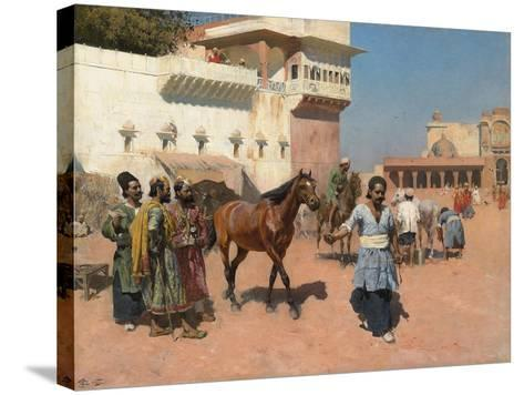 Persian Horse Dealer, Bombay, 1880s-Edwin Lord Weeks-Stretched Canvas Print